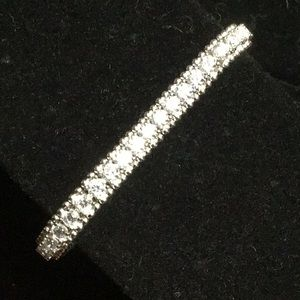 7 3/4 Sterling Silver and CZ Bracelet